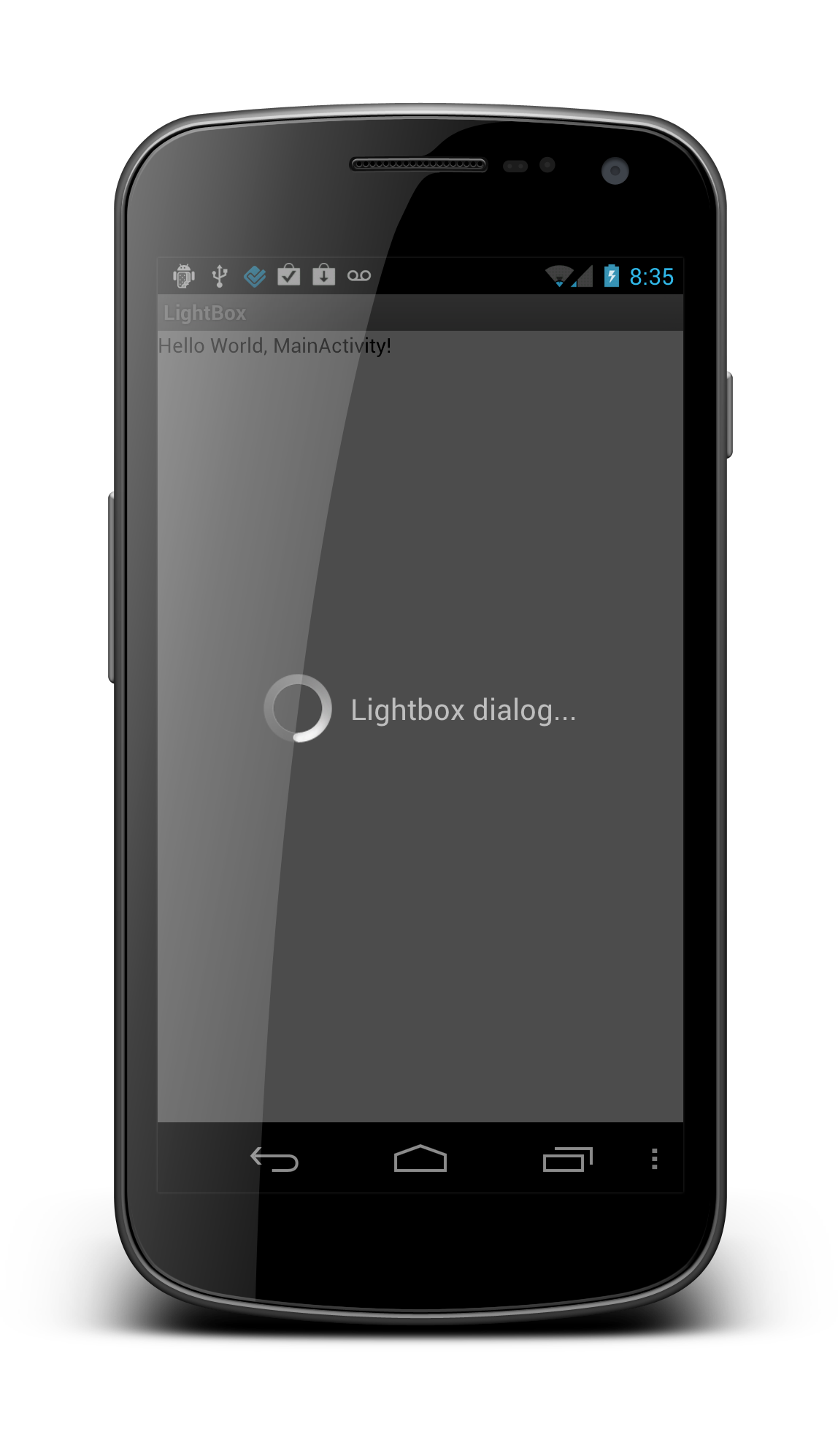 LightBox Effect for Android Dialogs | Public Static Droid Main